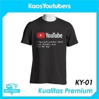 Kaos Youtube Versi Dilan - Baju Distro Youtube