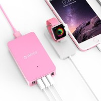 Orico USB Wall Travel Charger Hub 5 Port - CSE-5U - Pink