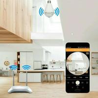 Spy Camera Lampu Kamera CCTV IP WIFI BHOLAM Wireless Panoramic Audio
