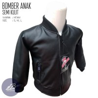 Jaket Bomber Anak Semi Kulit Model Polos Ukuran Kecil