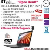 """DELL Latitude 3490 ( 14"""" Inch ) Core i5-8250U Gen8/4gb/256SSD/VGA2GB."""