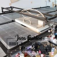 Jasa Sablon Kaos Manual Satuan Rubber Plastisol Discharge Termurah