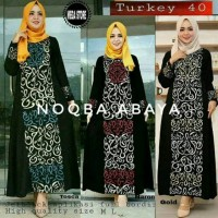 Abaya Gamis Jubah Dress Arab Bordir Turkey 40 Premium