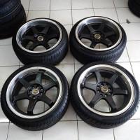 Velg Mobil TE37 Ring 17 Lubang 8X100-114,3 Lebar Belang 8/9