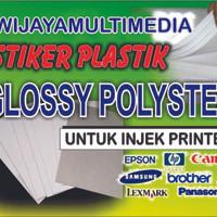 JUAL STIKER PLASTIK GLOSSY POLYSTER UNTUK PRINT DI PRINTER INJEK