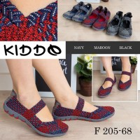 KIDDO F 205 68 Flat ORIGINAL Sepatu Rajut Anyaman Wanita