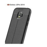 Case leather samsung J2PRO 2018 soft auto focus kulit cover exclusive