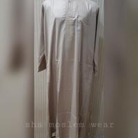 Jubah / Gamis Import / Thobe / Jubba Ikaf Dewasa Gold Polyester
