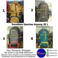 Jual (MATAHARA) Tas Decathlon Quechua Arpenaz 20 L, Tas Punggung, Backpack, Murah