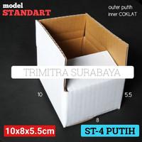KOTAK ST-4 PUTIH KARDUS KARTON BOX POLOS PACKING HP AKSESORIS STANDART