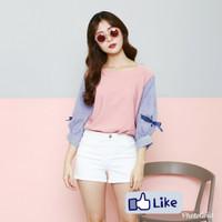 Harga blouse pink fashion wanita atasan murah baju cewek busana   Hargalu.com