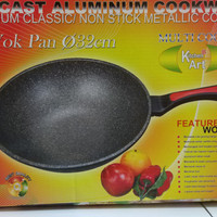 Wok Pan 32cm Titanium / Non Stick Metallic Coating