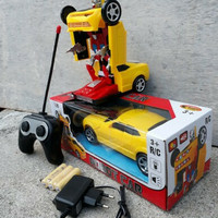 Rc car transformers bumblebee mobil robot remote control