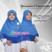 Jilbab Segi Empat Motif ( Premium Hijab Kerudung Dua Lapis Kain Halus)