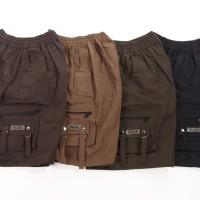 [Paket 4pcs] Celana cargo jumbo / Plain cargo / 4 warna