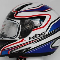 HELM KBC V EURO BLUE RED WHITE ORIGINAL