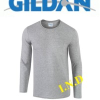 Jual Kaos Polos Gildan Lengan Panjang Sport Grey Murah