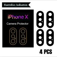 Original! iPhone X Skin Cover Black Mate Camera Protector 4 Pcs