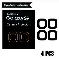 Original! Samsung S9 Skin Cover Black Mate Camera Protector 4 Pcs