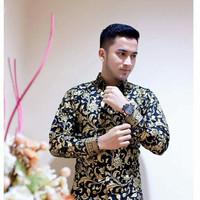 Jual Batik Pria / Kemeja Batik Modern Lengan Panjang Prada Murah