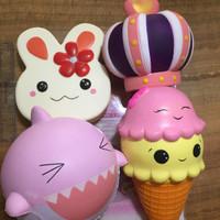 PAKET Squishy isi 4 Jumbo Premium Super Import Quality Mainan Toys