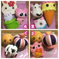 PAKET isi 3 Squishy Murah Premium Super Big Slow rising Mainan Boneka