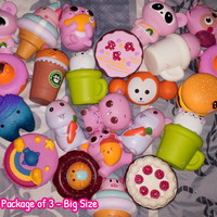 PAKET Squishy Random isi 3 Slow Rising PREMIUM Super - Big Size