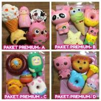 Paket Squishy isi 5 Premium Super Slow Rising Murah Toys Doll Package