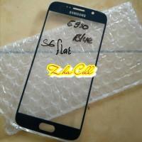 Kaca touchsreen Kaca depan Kaca lcd Samsung S6 Flat ORIGINAL Blue