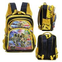Tas Ransel Anak SD Transformers Bumble Bee 5D 4 Kantung Import