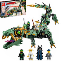 Ninjago Movie Green Ninja Mech Dragon Lepin 06051 Lego 70612 kw