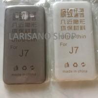 SOFTCASE UNTUK HP SAMSUNG SERI J7 WARNA TRANSPARANT DAN HITAM