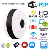IP Camera / IP CAM VR 360 Wireless Fish Eye 360 Panoramic Lens cam