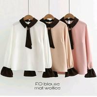 fo blouse sr- baju atasan kerja - blouse tunik kemeja wanita muslim