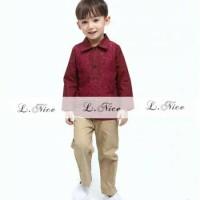 L.Nice 85 Baju Koko Maroon Anak Kecil Muslim Lebaran Kostum India