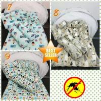 Set kasur bayi kelambu lipat bantal guling popok bedong topi baju tas