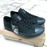 Sepatu sekolah hitam polos original,Rhumell master black authentic