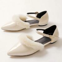 Flat Furry Glossy - White