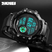 Jam tangan Original SKMEI - Pria - Sport - Outdoor - Black - Murah