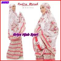 Mukena Dewasa Nadira Bahan Katun Rayon Premium Warna Merah - GHS
