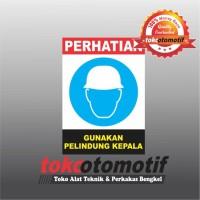 Sticker Safety Sign K3 Gunakan Pelindung Kepala