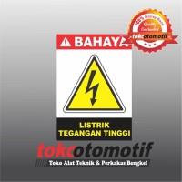 Sticker Safety Sign K3 Listrik Tegangan Tinggi