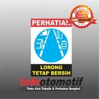 Sticker Safety Sign K3 Lorong Tetap Bersih