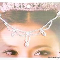 Kalung Bindi India Hiasan Dahi Jilbab Jodha Headpiece Silver BD56