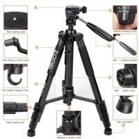 Jual Zomei Q111 Camera Tripod For Canon Nikon Sony Gopro Xiaomi+Holder