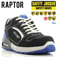 Jogger Raptor Black Blue Sporty Casual Sepatu Safety Shoes Metal Free