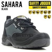 Jogger Sahara Black Hitam Casual Sporty Sepatu Safety Shoes Original