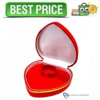 Kotak Set Perhiasan Besar - Kotak Cincin Love - Merah