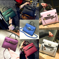 tas kerja pesta replika hermes kelly mini import Korea red merah