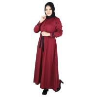 Baju Gamis Dress Busana Muslim Muslimah Wanita Cewek Merah RWH 016